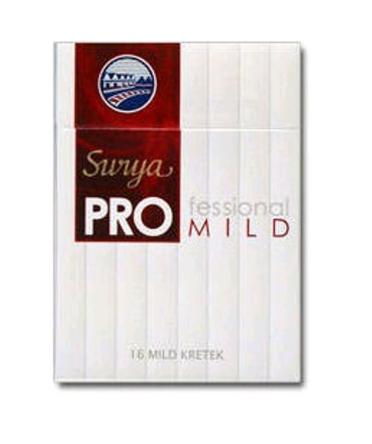 GUDANG-GARAM-Surya-Pro-Mild-16 clove cigarettes