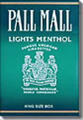 Pall Mall Lights Menthol
